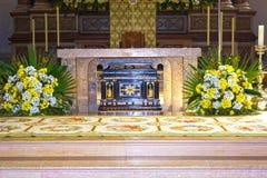 Salisburgo, Austria - 1° maggio 2017: Interno della cattedrale di Salisburgo - dettagli Fotografia Stock