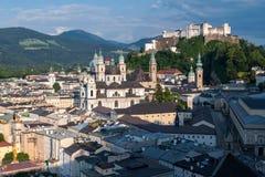 Salisburgo, costruzioni, castello Fotografia Stock Libera da Diritti