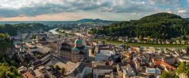 Salisburgo, panorama Fotografia Stock