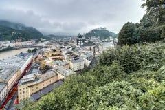 Salisburgo veduta da Monchsberg, Austria Immagine Stock Libera da Diritti