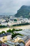 Salisburgo veduta da Monchsberg, Austria Immagine Stock