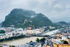 Salisburgo veduta da Monchsberg, Austria Fotografia Stock