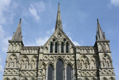Salisbury Cathedral. The front of Salisbury Cathedral in Wiltshire, England Stock Photo