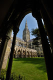 Salisbury Cathedral. A picture of the cathedral in Salisbury. The Cathedral has the highest spire of all churches in Great Brittain Royalty Free Stock Photos