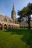 Salisbury Cathedral. A picture of the cathedral in Salisbury. The Cathedral has the highest spire of all churches in Great Brittain Royalty Free Stock Photo