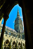 Salisbury Cathedral. Tower of the Salisbury Cathedral, England Stock Images