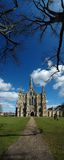 Salisbury Cathedral. Vertical panorama of Salisbury Cathedral Stock Photos