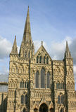 Salisbury Cathedral. View of Salisbury Cathedral from the Cathedral Close royalty free stock photography
