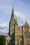 Salisbury Cathedral. View of Salisbury Cathedral from the Cathedral Close stock photo