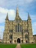 Salisbury cathedral. This is Salisbury cathedral, that is the most wonderfully and the biggest religion build of gothic England Royalty Free Stock Images