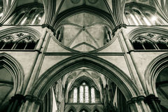 Salisbury Cathedral Arches in Chancel D Stock Photo