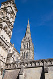 Salisbury Cathedral, England. Salisbury Cathedral, has the tallest spire in the UK at 404ft and was built over 38 years starting in1220 Royalty Free Stock Images