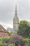Salisbury Cathedral, England. View of famous Salisbury Cathedral, England Royalty Free Stock Photos