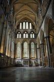 Salisbury cathedral interior Stock Photos