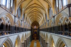 Free Salisbury Cathedral Interior, Salisbury, England Royalty Free Stock Photos - 181971538