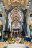 Salisbury Cathedral Nave Ceiling Easter decoration Stock Photos