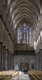 Salisbury Cathedral nave and font Royalty Free Stock Photo