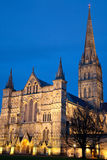 Salisbury Cathedral at Night Royalty Free Stock Photography