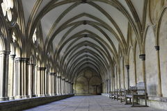 Salisbury Cathedral's Cloister Royalty Free Stock Photos