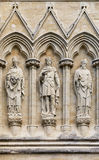 Salisbury Cathedral statues. Royalty Free Stock Photography