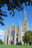 Salisbury Cathedral. A summer view of Salisbury Cathedral, Wiltshire, England Stock Images