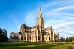 Salisbury cathedral at sunrise