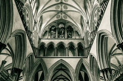 Salisbury Cathedral Triforium Gallery B Stock Image