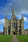 Salisbury Cathedral, Western Facade, Wiltshire Royalty Free Stock Photos