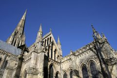 Salisbury Cathedral in Wiltshire Royalty Free Stock Photo