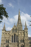 Salisbury Cathedral, Wiltshire, England. Salisbury Cathedral in Wiltshire, England during summer Stock Images