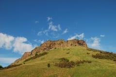 Salisbury Crags. The Salisbury Crags, Holyrood Park, Edinburgh stock image