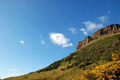Salisbury Crags. In Holyrood Park, Edinburgh royalty free stock photo