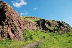 Salisbury Crags. In Holyrood Park, Edinburgh, Scotland royalty free stock photos