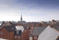 Salisbury-Dachspitzen Stockbild