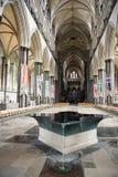 Salisbury domkyrka, anglicandomkyrka i Salisbury, England Arkivfoto