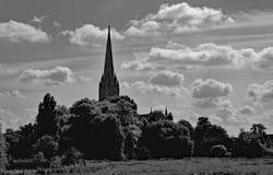 Salisbury domkyrka Wiltshire England U K royaltyfri fotografi