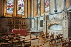SALISBURY, ENGLAND - AUGUST 02, 2013: The interior of Anglican S royalty free stock photo