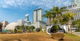 Salisbury-Garten, ein öffentlicher Platz zwischen Hong Kong Museum der Kunst und Hong Kong Space Museum China lizenzfreie stockfotos