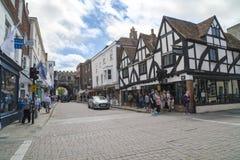 Salisbury gataliv Arkivbild