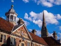 Salisbury historiska byggnader arkivfoto