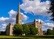 Salisbury katedra Obrazy Royalty Free