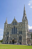 Salisbury katedralny wejście, Anglia Zdjęcie Royalty Free