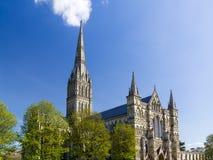 Salisbury Katedralny Wiltshire Anglia UK obrazy stock