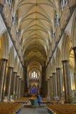 Salisbury katedry nave zdjęcia stock