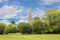 Salisbury-Kathedrale in England stockfotografie