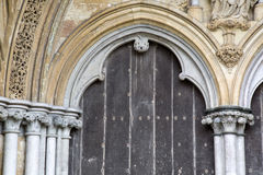 Salisbury-Kathedralen-Fassade, England lizenzfreie stockbilder