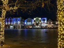 Salisbury-Marktplatz Wiltshire lizenzfreie stockfotos