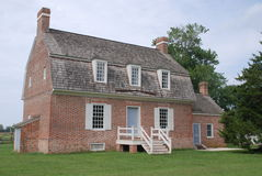 Salisbury, MD: 1741 Pemberton Hall. Built in 1741 Pemberton Hall in Salisbury, Maryland is an excellent example of a colonial American brick home with its Royalty Free Stock Photos