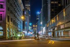 Salisbury Road, Tsim Sha Tsui in Hong Kong Stock Photos