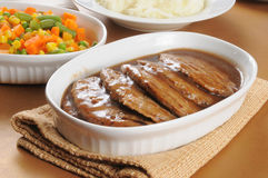 Salisbury steak Stock Image